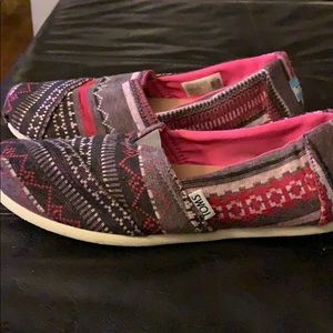 Toms Shoes Burlap Size 8 Brown Slip Ons Poshmark